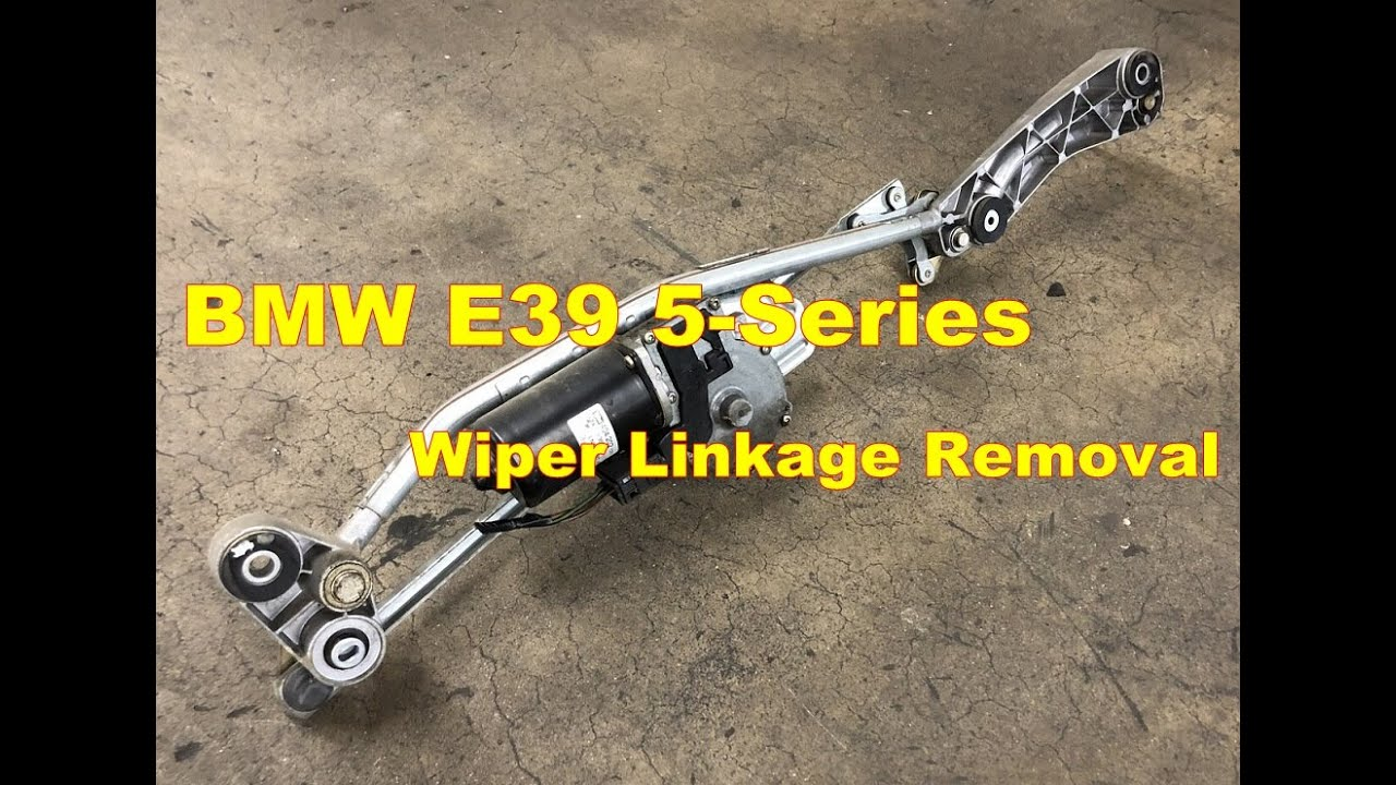 Bmw E39 528i Windshield Wiper Blade Motor Removal M5 540i