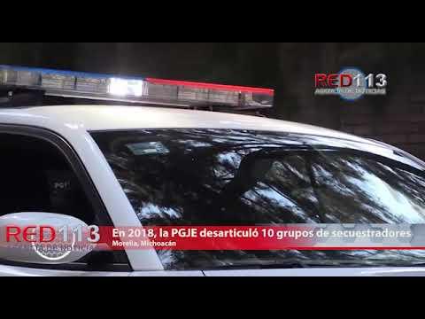 VIDEO En 2018, la PGJE desarticuló 10 grupos de secuestradores en Michoacán