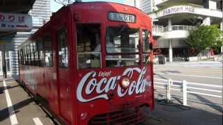【万葉線】コカコーラ ラッピング車両 手回し方向幕 Coca-Cola decoration