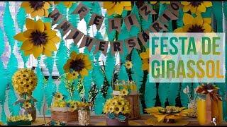 DIY: Festa de Girassol: Fácil e gastando bem pouco 🌻