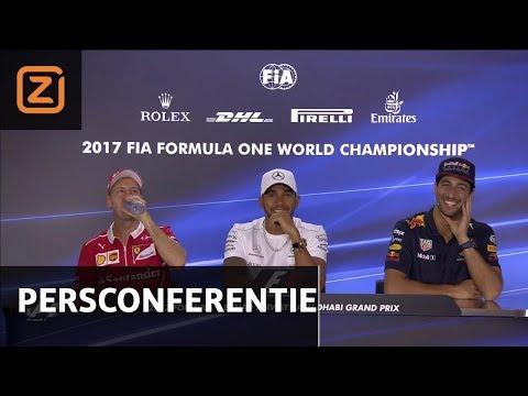 Hamilton dist Vettel | Persconferentie | GP van Abu Dhabi 2017