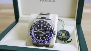 Rolex GMT Master II BLNR (Batman) - Ref. 116710BLNR - comprehensive watch review with macro details