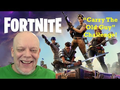 "FORTNITE GAMEPLAY - ""Carry The Old Guy"" Challenge!  😀"