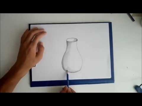 Karakalem Vazo çizimi Youtube