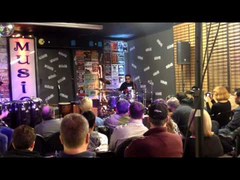 Alex Acuña at Steve's Music Store in Montreal - Nov 16 2013