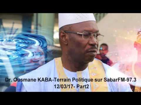 Dr. Ousmane KABA-Terrain Politique sur Sabari FM 97.3 (Part2)
