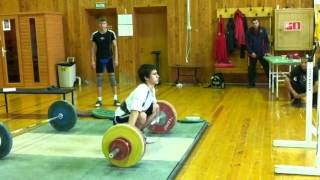 15 year old 115 kg Snatch @ 63 kg (253 lbs @ 139)