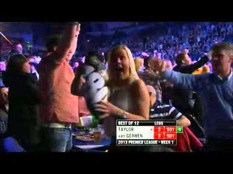 Premier League of Darts 2013 Week 1 - Van Gerwen VS Taylor