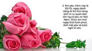 Lời Chúc 20/10 Hay Và Ý Nghĩa Dành Cho Mẹ, Vợ Và Người Yêu, Bạn Bè