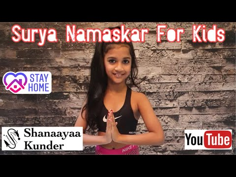 surya namaskar  yoga for kids/children  lockdown day18