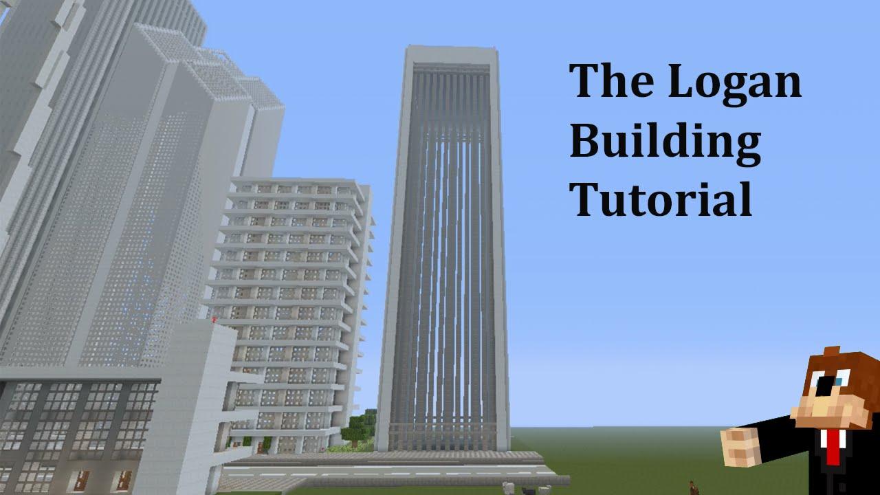 Minecraft Modern Skyscraper Tutorial 3 Youtube