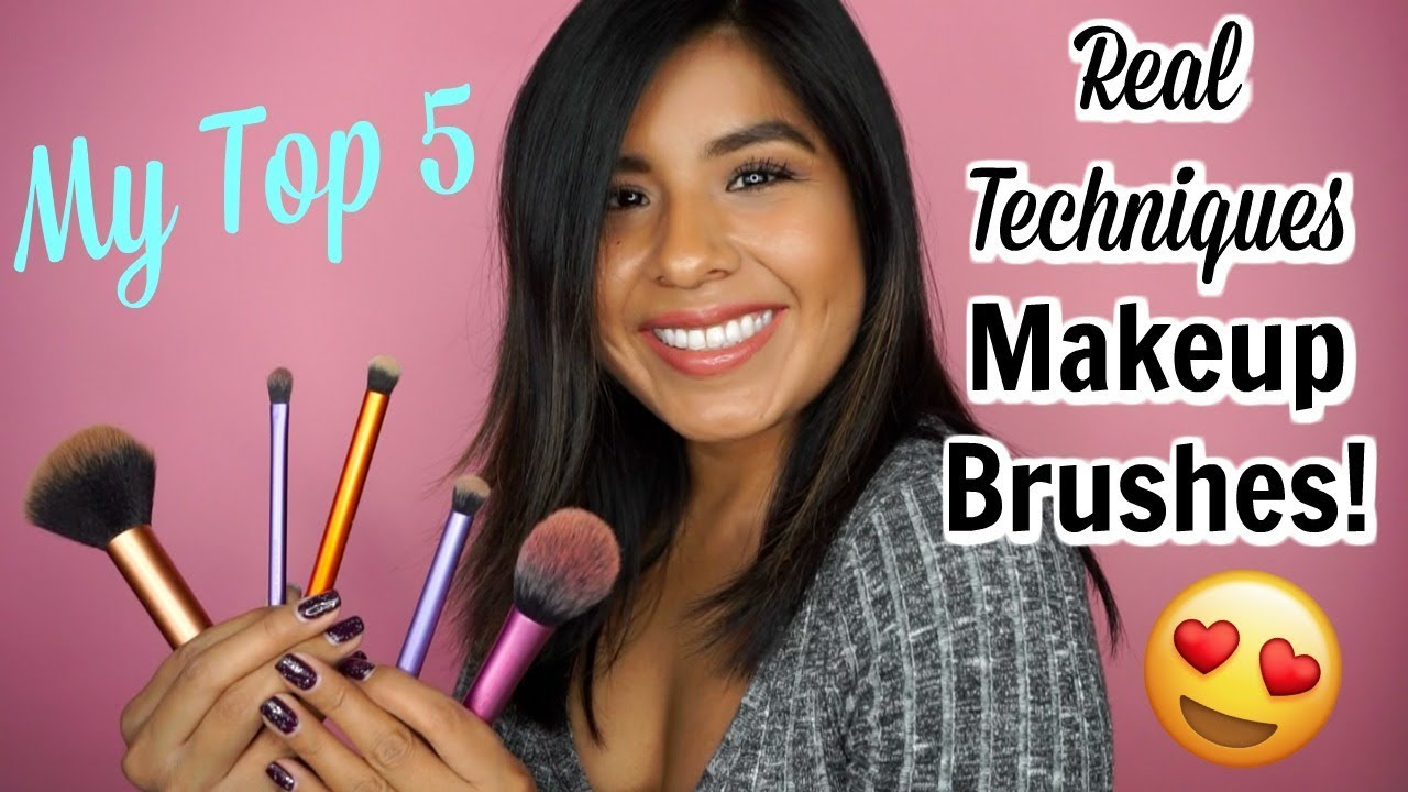 My Top 5 Real Techniques Brushes! | My Favorite Super Affordable Makeup Brushes