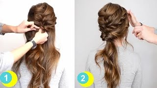 beauty hairstyles easy hairstyles medium and long hair