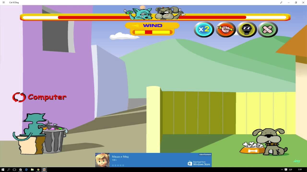 Cat Vs Dog Game Windows 10 Youtube