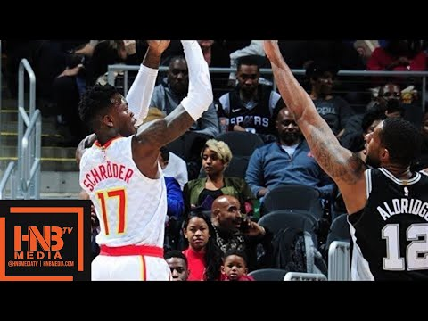 San Antonio Spurs vs Atlanta Hawks 1st Half Highlights / Jan 15 / 2017-18 NBA Season