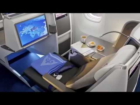 Air Astana Boeing 767 Business Class Cabin