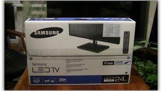 телевизор Samsung LT24D390EXCI распаковка, обзор