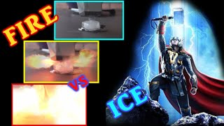 The Thors Hammer experiment! -Potassium vs Ice