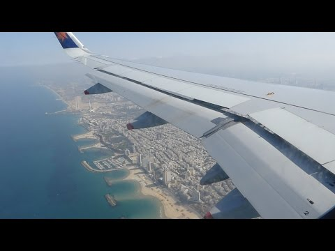 Israir Airbus A320 Landing in Tel Aviv