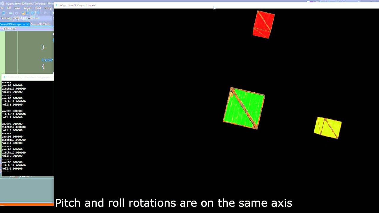 OpenGL FPS Camera Quaternion