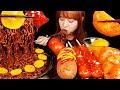 ASMR MUKBANG :) 팔도짜장면과 직접만든 가래떡 떡강정, 석박지, 핫도그 먹방 ~ 후식은 빼빼로 종류별로 싹~~~~~
