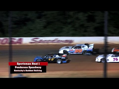 Sportsman Heat Race #1 at Ponderosa Speedway 8 22 14