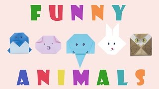 Easy to make animals for kids. Top 5 origami