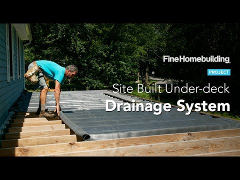 how to install under deck drainage systems