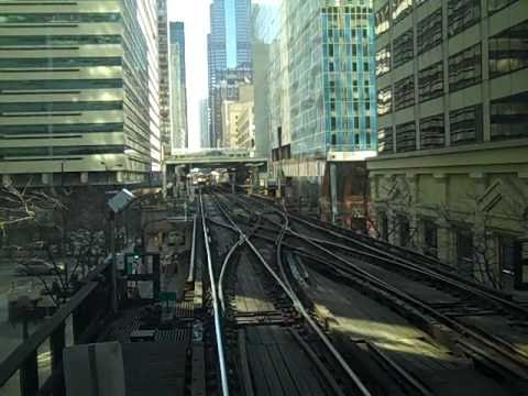 Brown Line train   Kimball to Loop to Merchandise Mart   04-