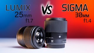 Sigma 30mm f1.4 vs Lumix 25mm f1.7 for Micro Four Thirds GH5  | UNREAL!