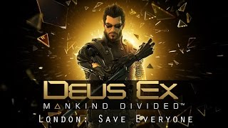 The Final mission in Deus Ex Mankind Divided Completely stealth with saving both groups Stealth is the only way to do it If you set off an alarm or fail to take