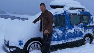 Über Weihnachten ans Nordkapp mit dem Dacia Teil 5: Motorproblem bei -28° |Reisen im Micro Camper|