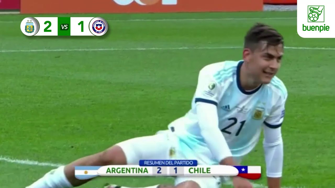 Argentina Vs Chile Resumen Completo Copa America Youtube