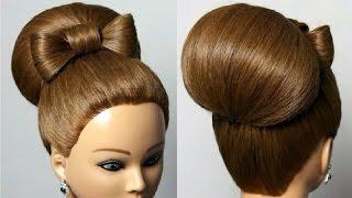 Причёска бантик из волос + видео как делать и фото