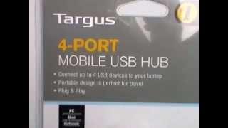 Targus Travel 4-Port USB 2 0 Mobile Usb Hub review