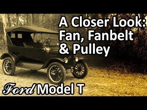 Ford Model T - Fan, Fanbelt and Pulley