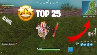 How to place top 25 in Every game of Fortnite || Fortnite Battle Royale tips