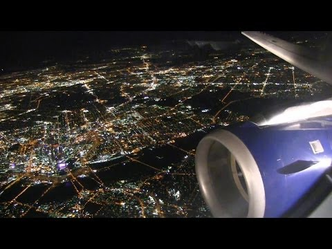 Amazing Night Landing At Dallas Fort Worth