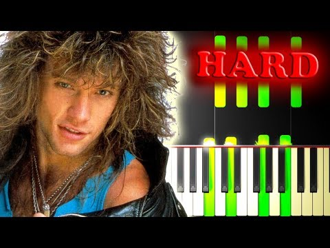 B JOVI  LIVIN  A PRAYER  Piano Tutorial