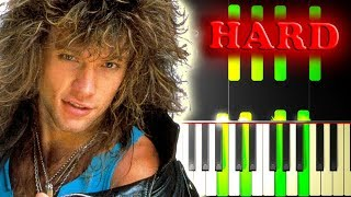 BON JOVI - LIVIN' ON A PRAYER - Piano Tutorial