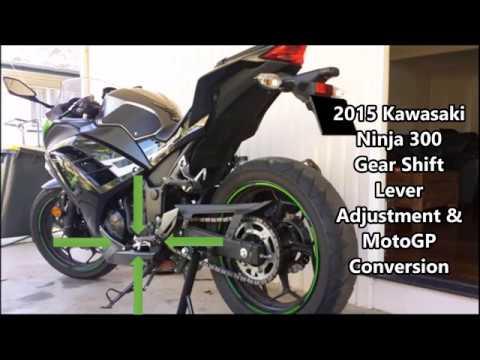 2015 Kawasaki Ninja 300 Gear Shift Lever Adjustment And Motogp