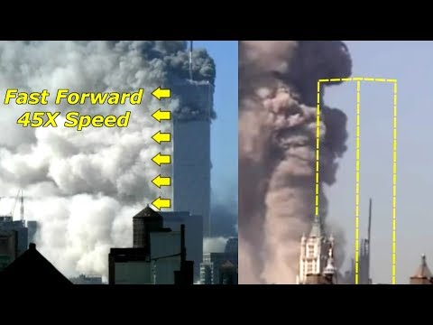 ✈️#911Truth Part 8: North Tower Literally Turning to Dust (Fast Forward 45X Speed)