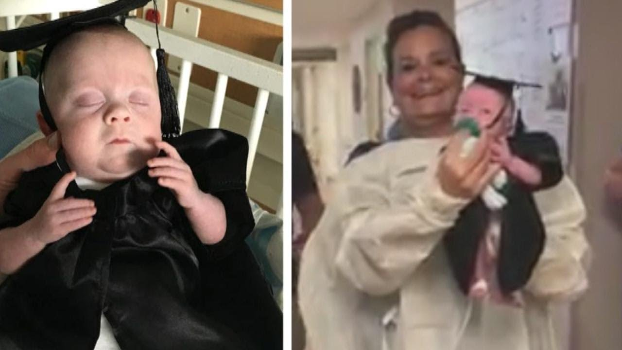 Premature Baby Wears Cap and Gown to Celebrate \'Graduation\' From ...