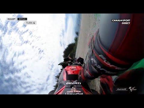 Danilo Petrucci chute lors des Q2 du Grand Prix d'Autriche