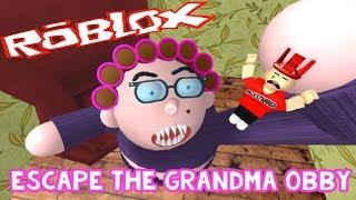 Бабушка СОШЛА с УМА! Она жарит детей! Убегаем! Роблокс побег Детское видео Мульт игра