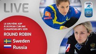Sweden v Russia - Women's round robin - Le Gruyère AOP European Curling Championships 2019