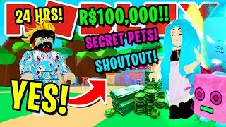 SAYING YES TO SUBSCRIBER FOR 24 HOURS IN ROBLOX BUBBLEGUM SIMULATOR!! (ROBUX, SECRET PETS & MORE!!)