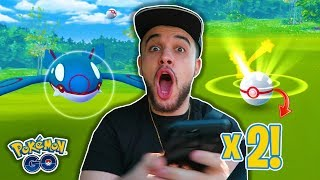 *INSANE* BACK TO BACK CRITICAL CATCHES ON KYOGRE IN POKEMON GO! + CATCHING NEW SHINY POKEMON!