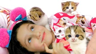 Alice and her Funny Story about Kittens | Alice Plays with Kittens