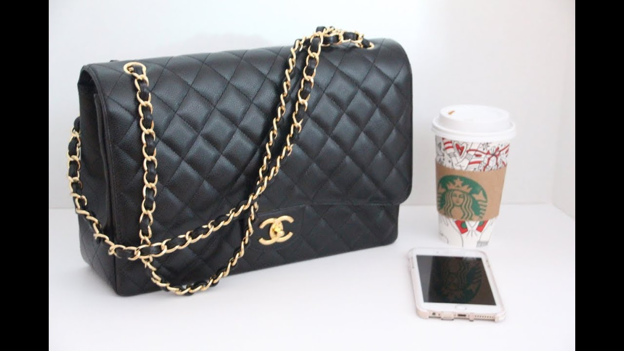 84cde28088b6 Chanel Timeless Classic What's in my Bag (Maxi Double Flap) - YouTube